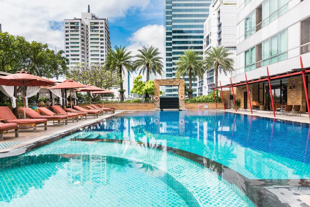 The swimming pool at or near Ascott Sathorn Bangkok