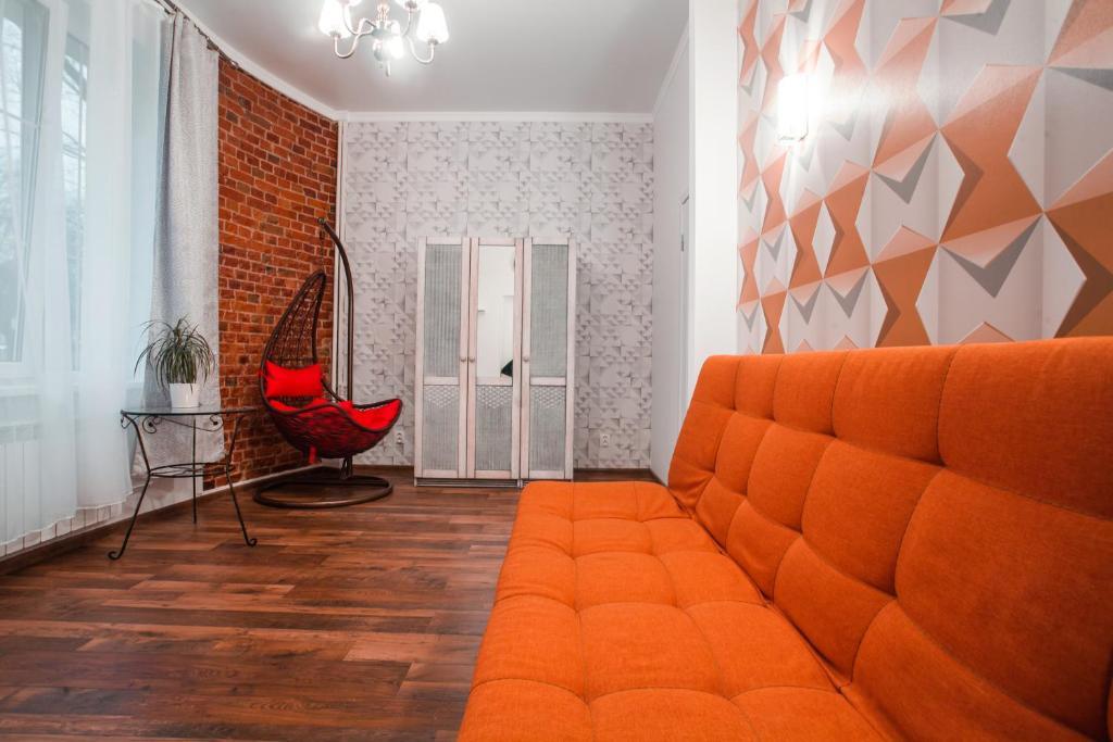 Гостиная зона в Стильная уютная квартира на Красной