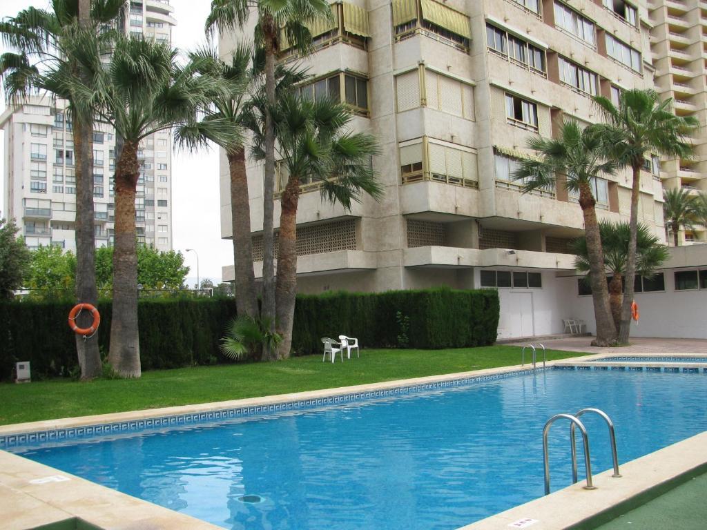 The swimming pool at or near Apartamentos Mariscal VII