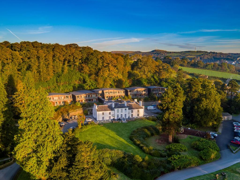 A bird's-eye view of The Cornwall Hotel Spa & Lodges