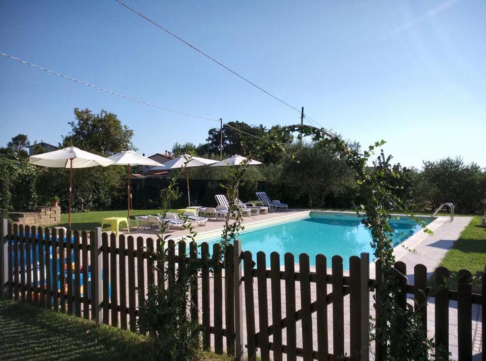 Vista sulla piscina di Agriturismo Al Rifugio DiVino o su una piscina nei dintorni