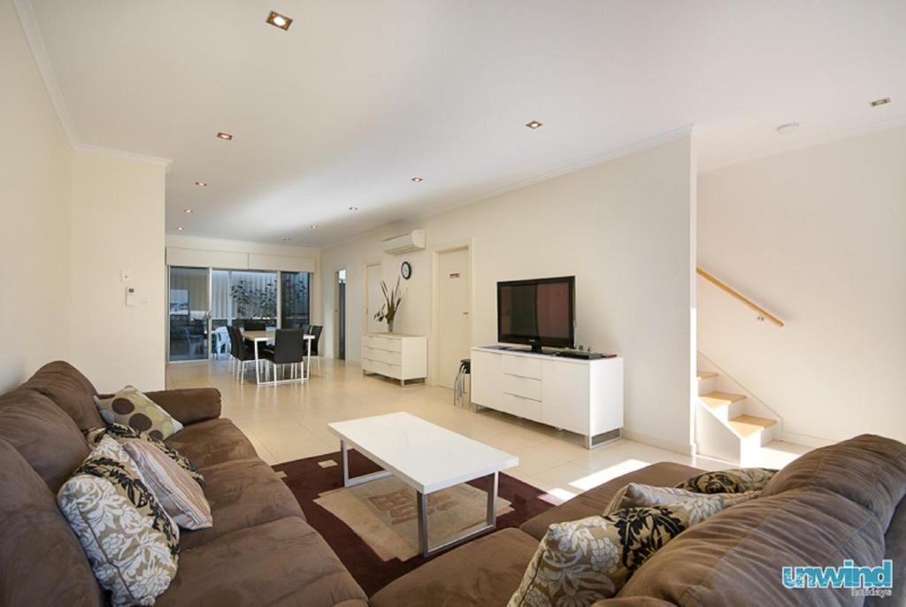 A seating area at The Block Townhouses