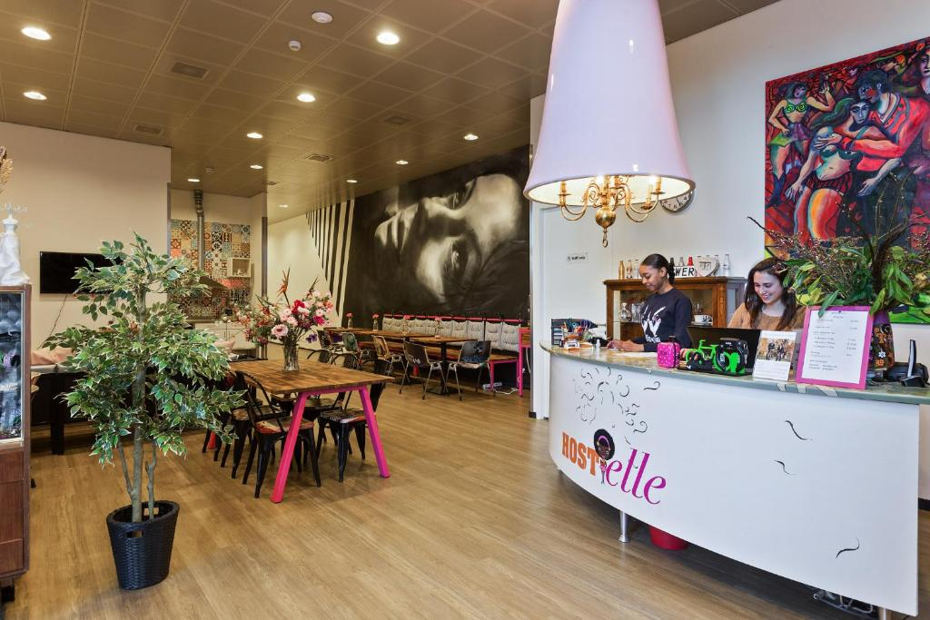 The lobby or reception area at Hostelle - female only hostel
