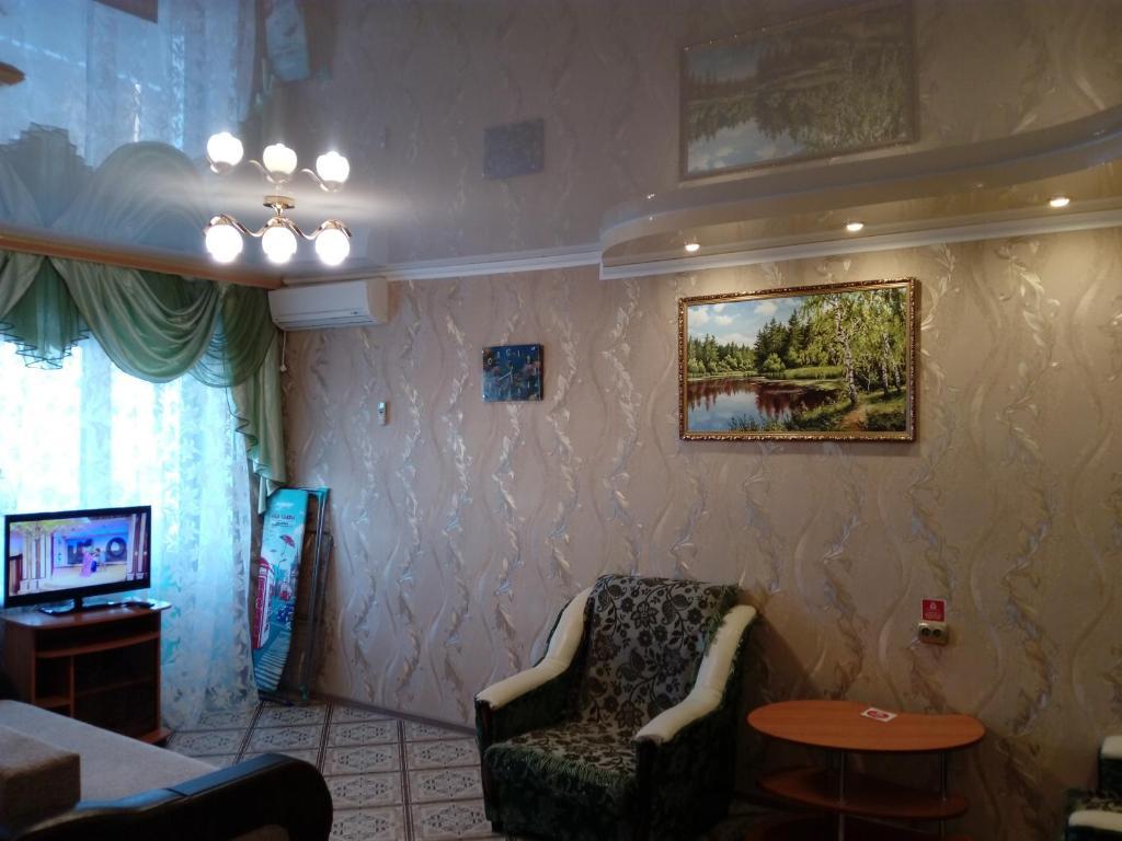 Гостиная зона в Апартаменты на Ленина 107