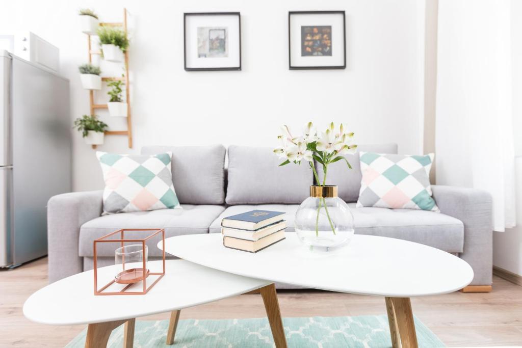 Posezení v ubytování Chill apartments