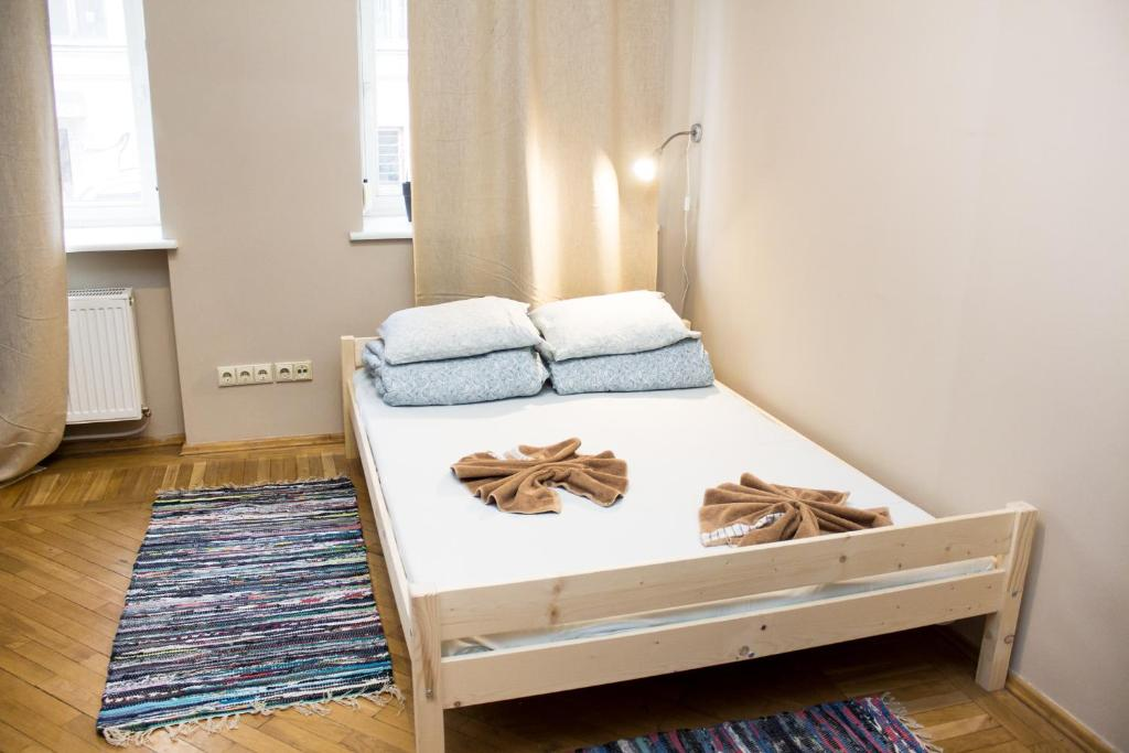 A bed or beds in a room at Hostel Oras