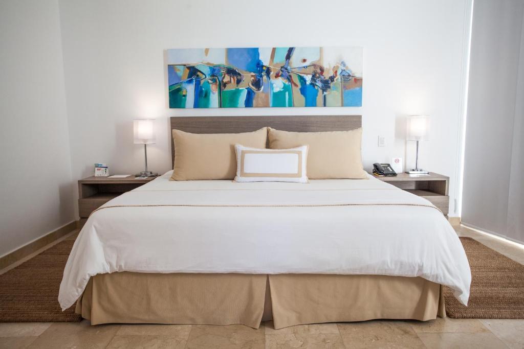 Cama o camas de una habitación en Hotel Casablanca