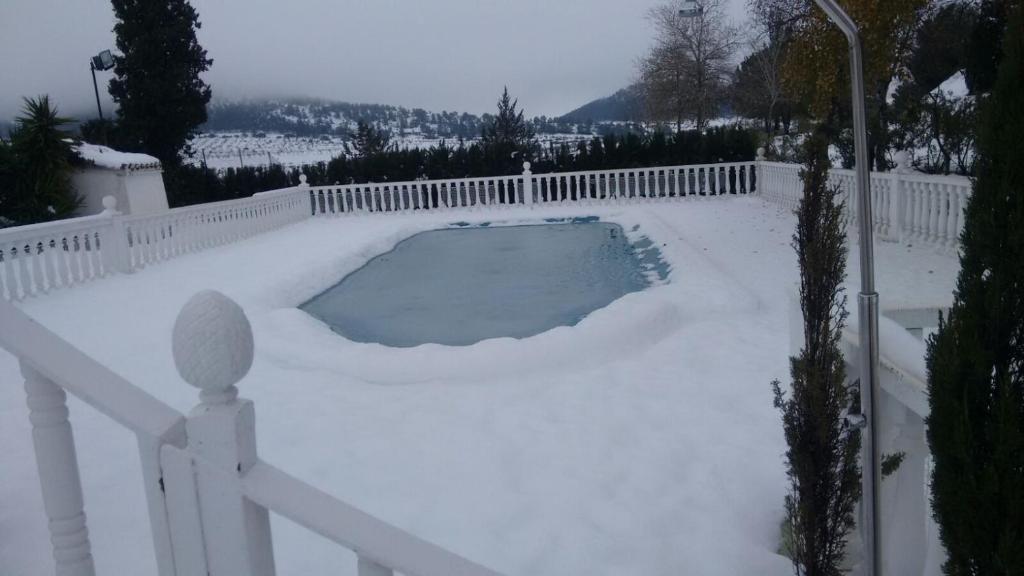 Casa Rural El Milano en invierno