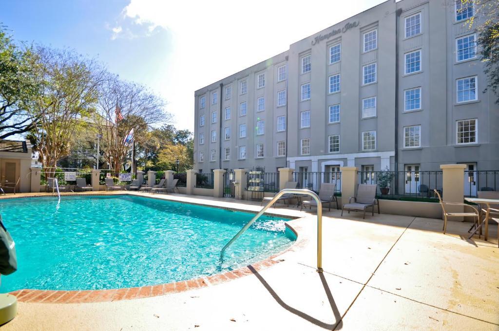 The swimming pool at or near Hampton Inn Charleston-Historic District