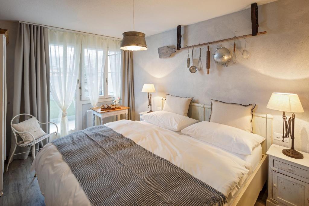 Ein Bett oder Betten in einem Zimmer der Unterkunft Hotel & Restaurant zum Beck