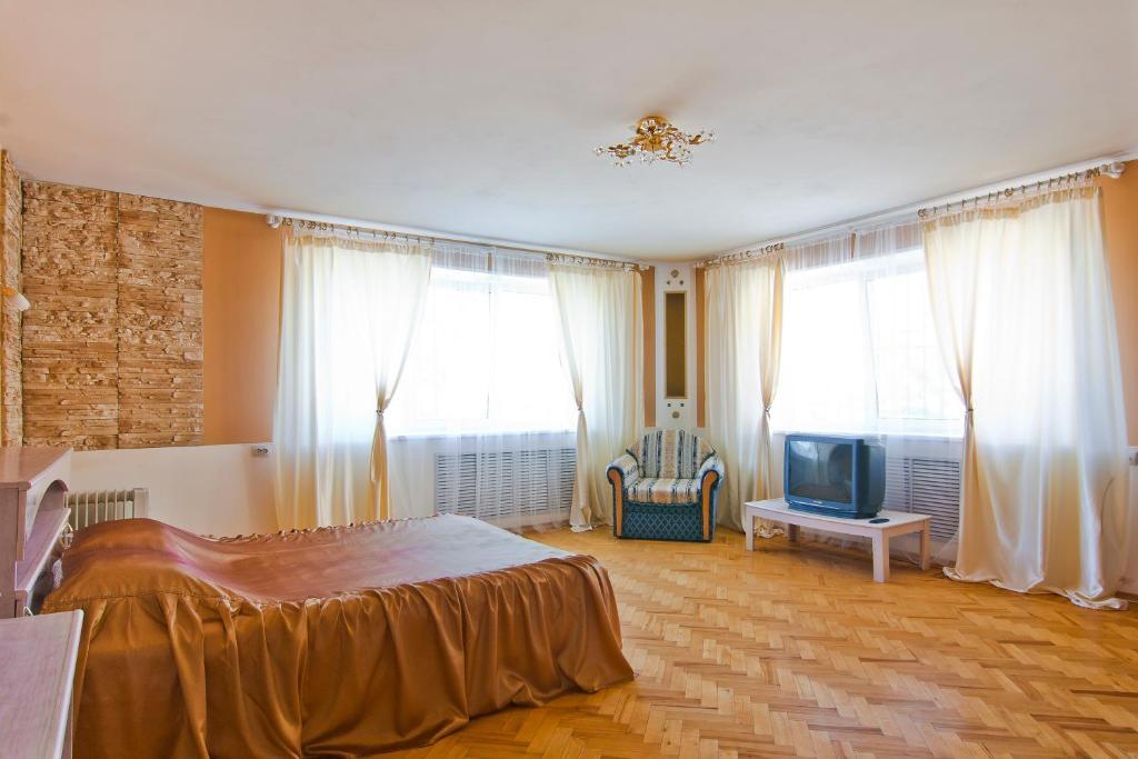 Кровать или кровати в номере Хостел Лайк