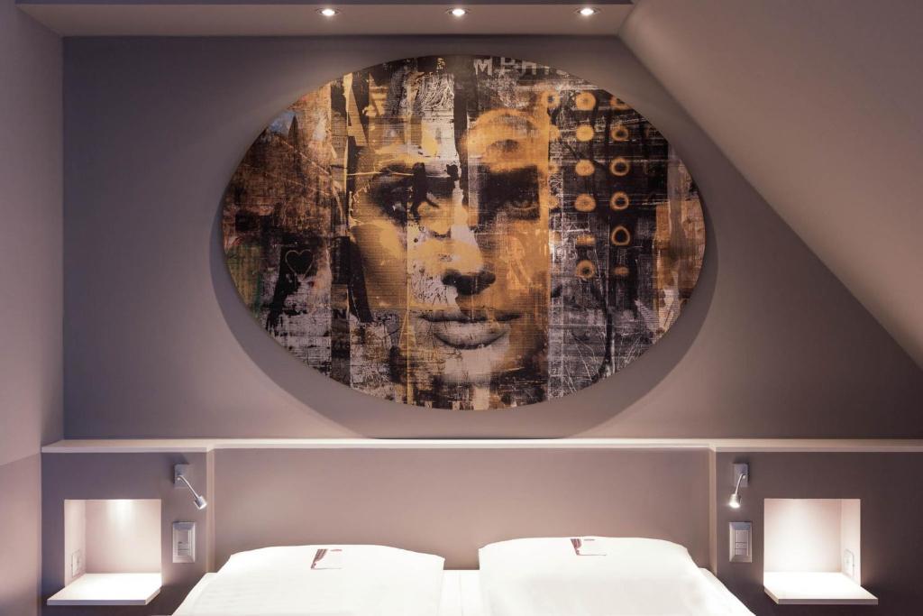 Cama o camas de una habitación en Der Wilhelmshof