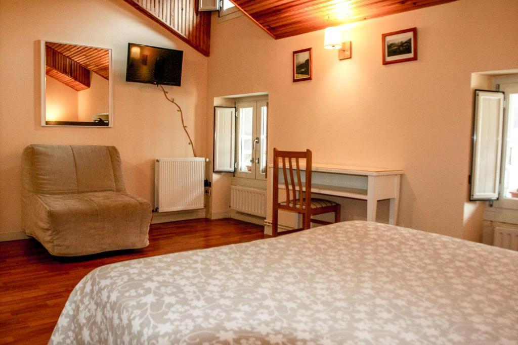 Cama o camas de una habitación en Eco Hotel Mundaka