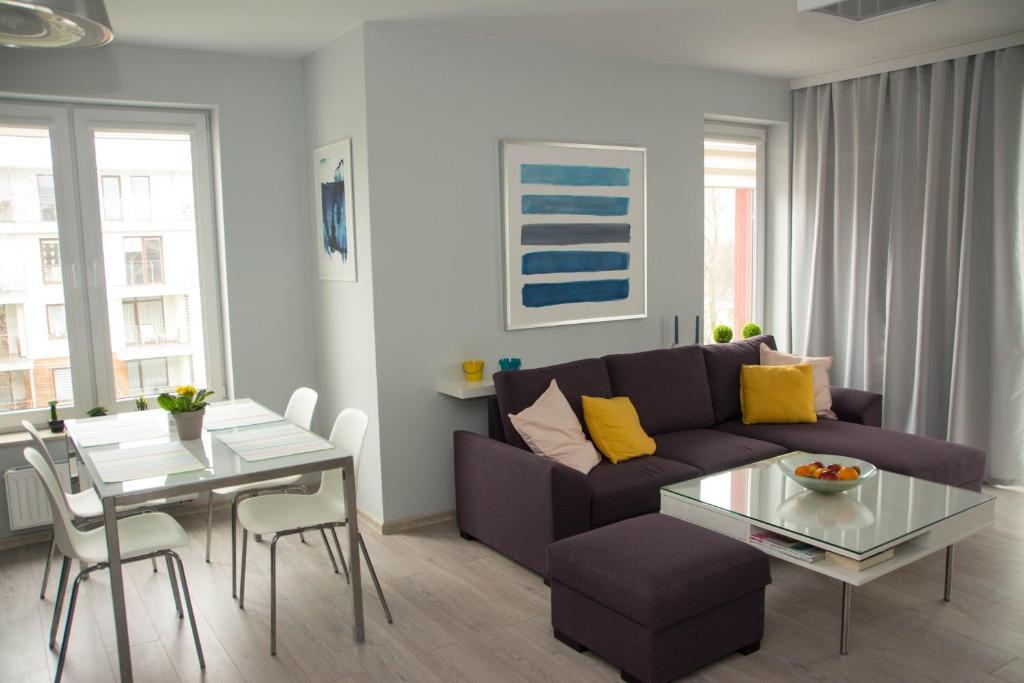 A seating area at Apartament Blue Sky Kołobrzeg