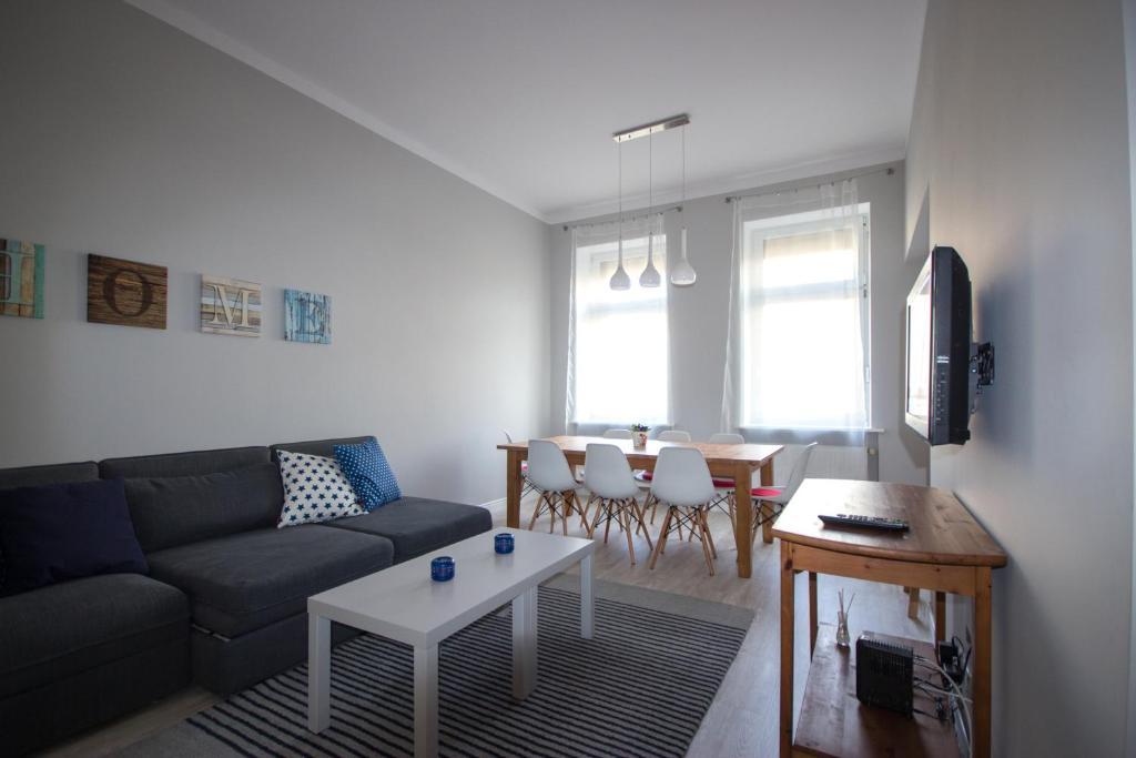 Część wypoczynkowa w obiekcie Apartament Paderewskiego 11
