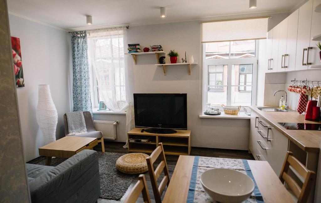 Zona de estar de Alfred Street Apartment