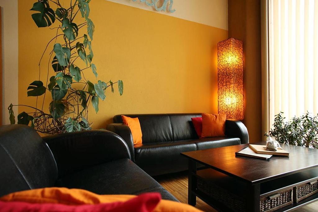 Ein Sitzbereich in der Unterkunft Ferienwohnung Pichler