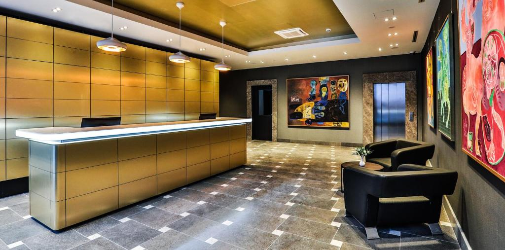 The lobby or reception area at Ocak Hotel & Apartment