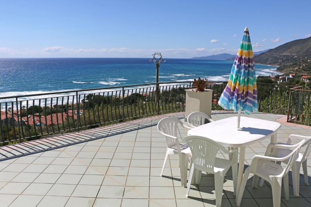 A balcony or terrace at Villa Augusta