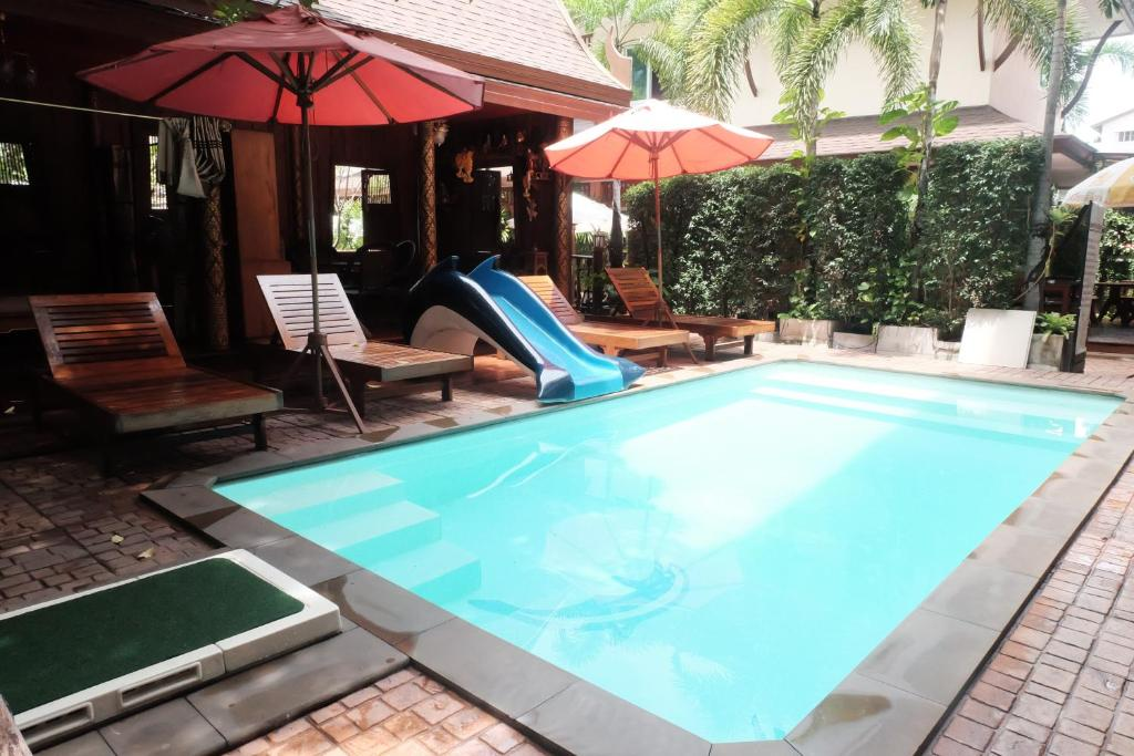 The swimming pool at or close to Orchid Resort