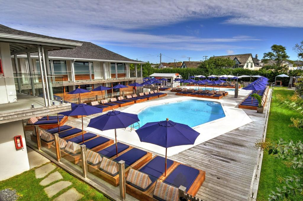 A view of the pool at The Montauk Beach House or nearby