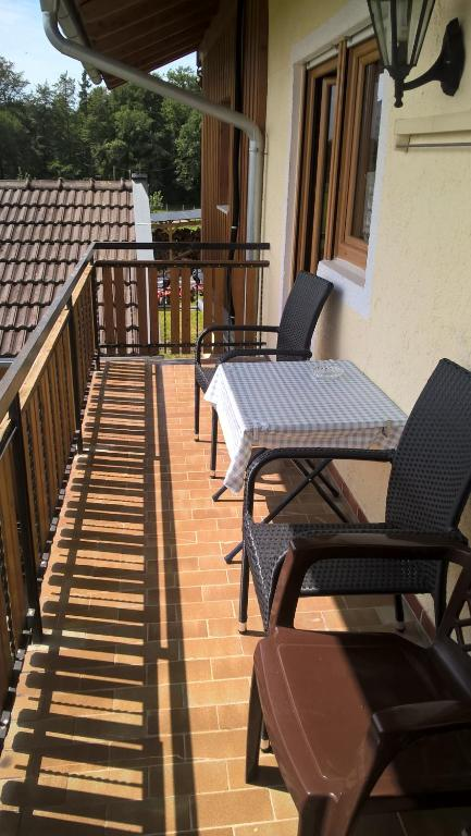 Ein Balkon oder eine Terrasse in der Unterkunft Wagnerhof