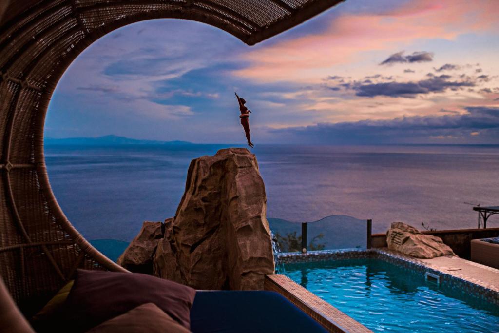 Der Swimmingpool an oder in der Nähe von Hotel Margherita