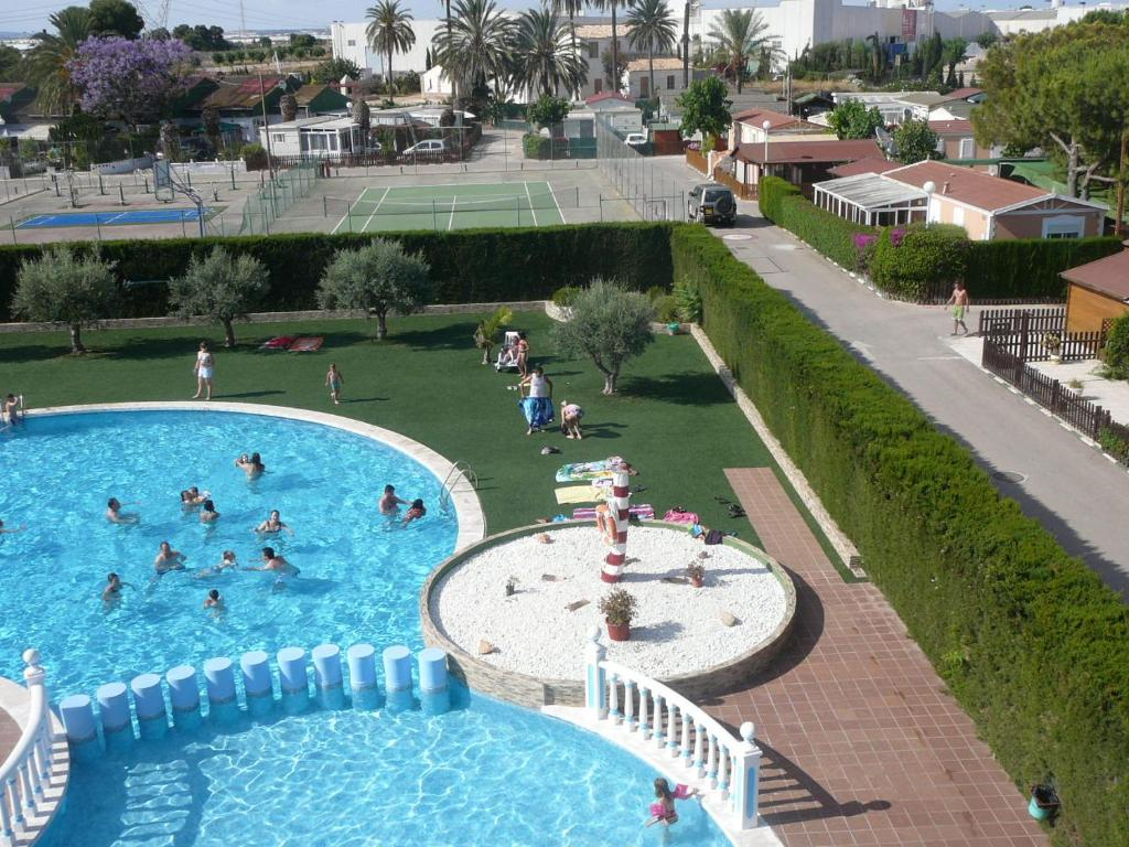 A view of the pool at Camping San Javier or nearby