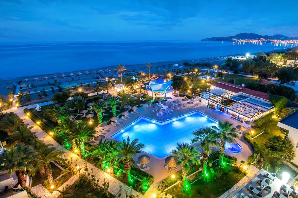 A bird's-eye view of Pegasos Deluxe Beach Hotel