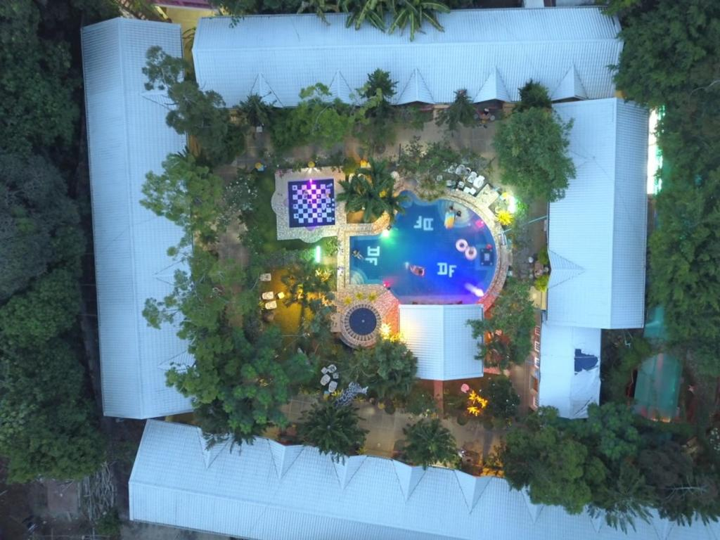 A view of the pool at Deep Forest Garden Hotel or nearby