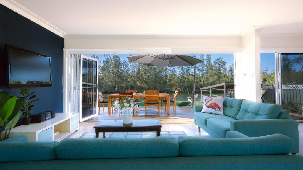 A seating area at The River Retreat