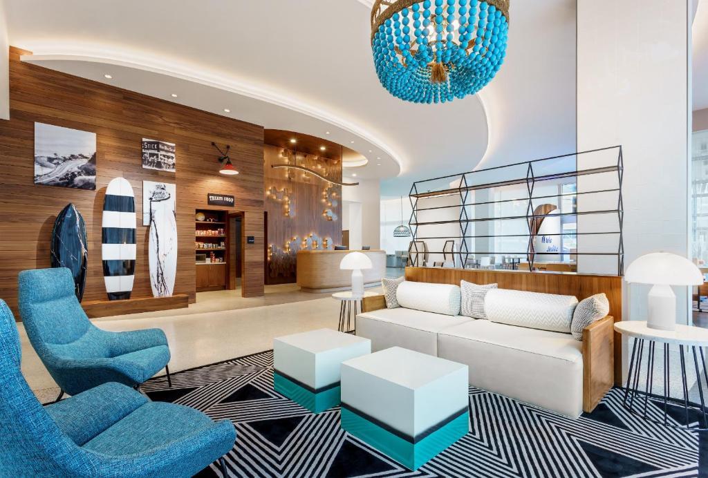 A seating area at Hampton Inn & Suites Santa Monica