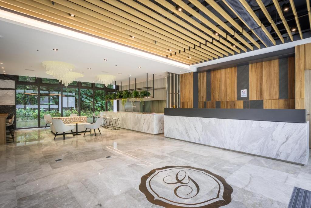 The lobby or reception area at Green World NanGang