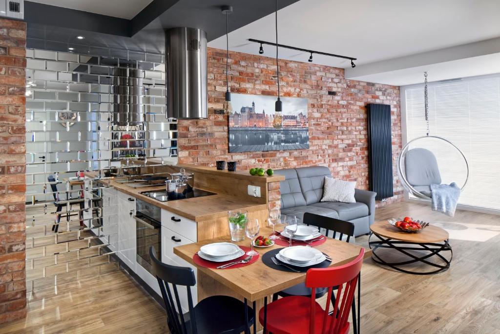 Restauracja lub miejsce do jedzenia w obiekcie Apartament No 118
