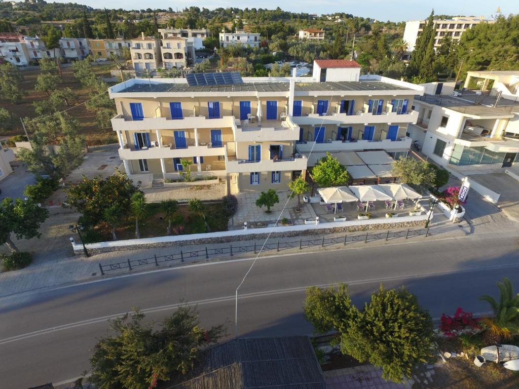 Άποψη από ψηλά του Rozos Hotel