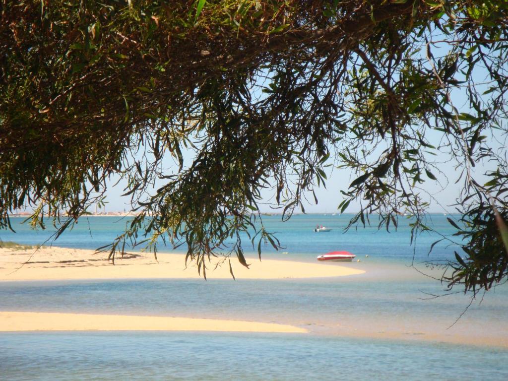 Uma praia em ou perto da casa de férias