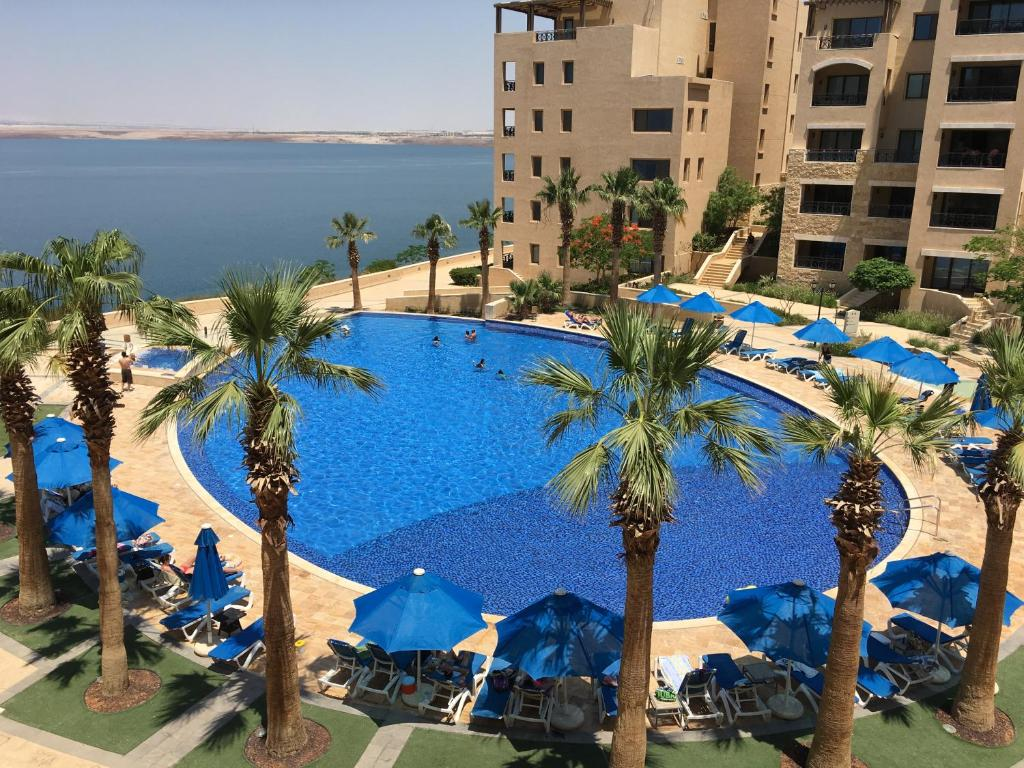A view of the pool at Salt Sea Apartments Dead Sea or nearby