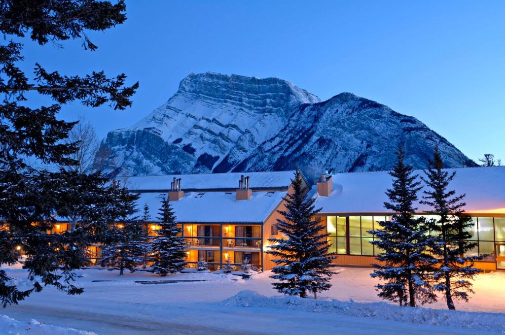 Douglas Fir Resort & Chalets during the winter