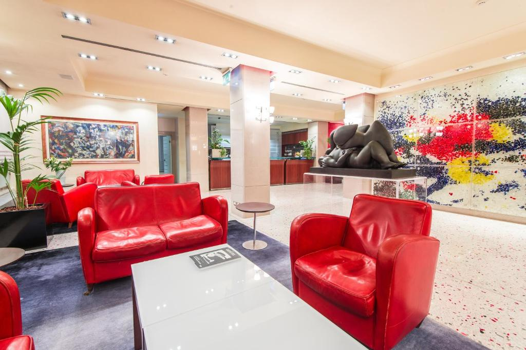 The lobby or reception area at Hotel Palace Bonvecchiati