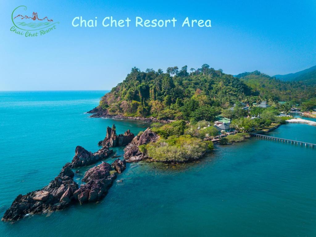 Vaade majutusasutusele Chai Chet Resort Koh Chang linnulennult