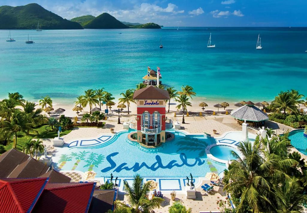 A view of the pool at Sandals Grande St. Lucian Spa and Beach All Inclusive Resort - Couples Only or nearby