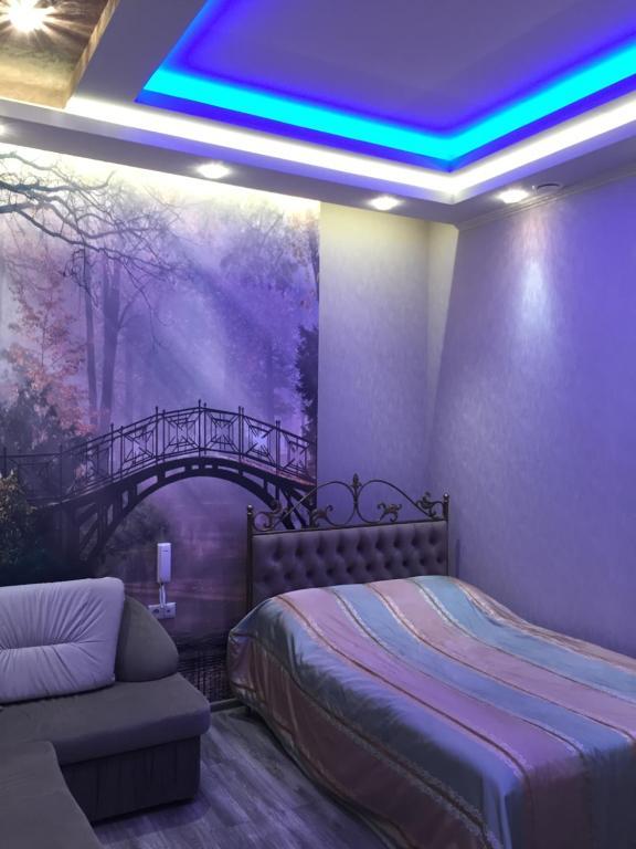 Кровать или кровати в номере Spa-Hotel Mirazh