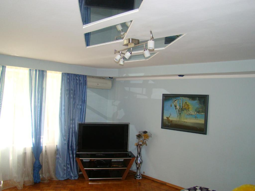 Телевизор и/или развлекательный центр в Apartment on mikroraion Parus