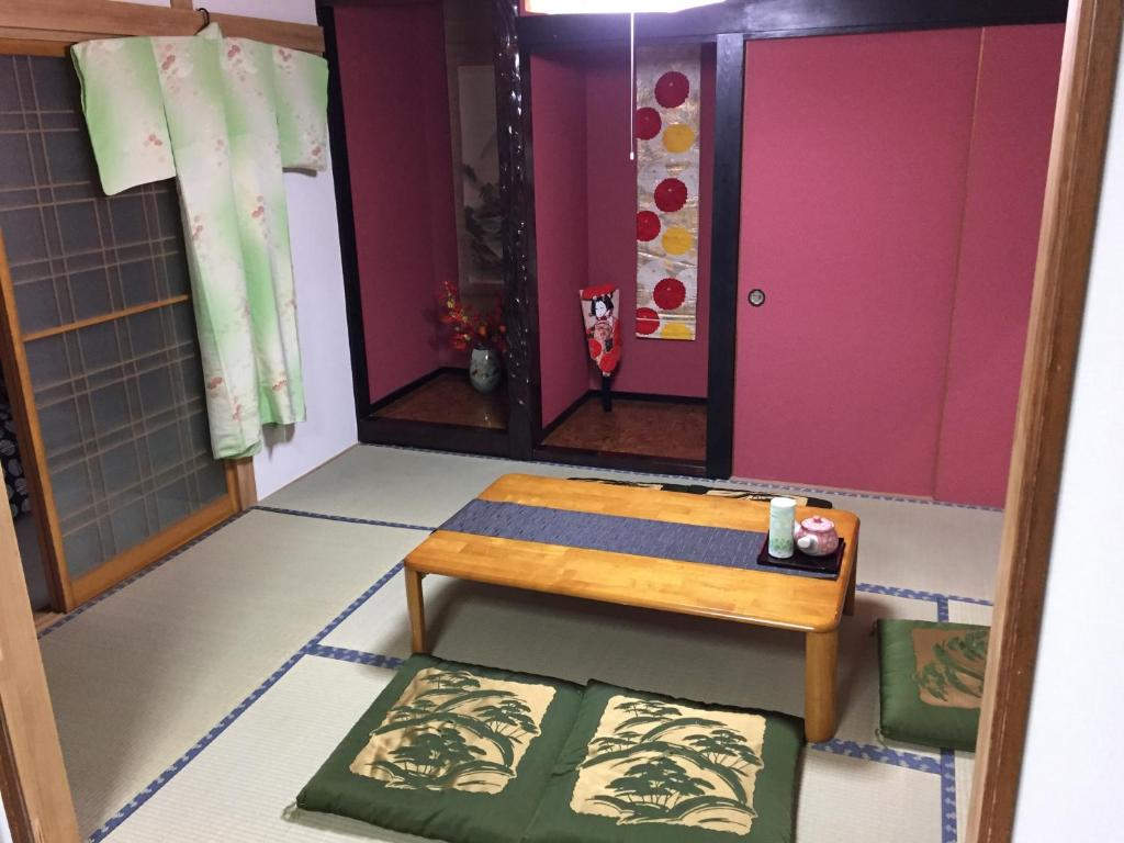 A seating area at Guesthouse TAKADA