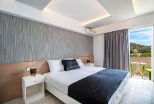 En eller flere senger på et rom på Stavris Studios