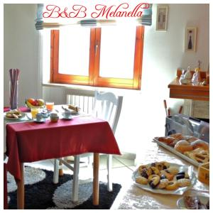 Breakfast options available to guests at B&B Melanella