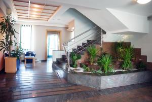 The lobby or reception area at Hotel Cubic