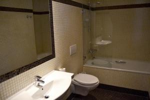 Koupelna v ubytování Hotel Praha Liberec