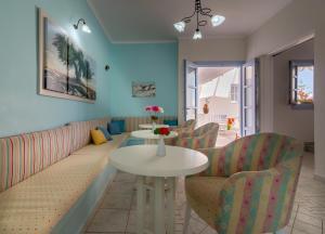 A seating area at Aeolis Hotel