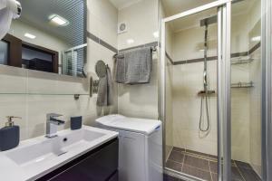 Koupelna v ubytování Luxury Apartments Ostrava